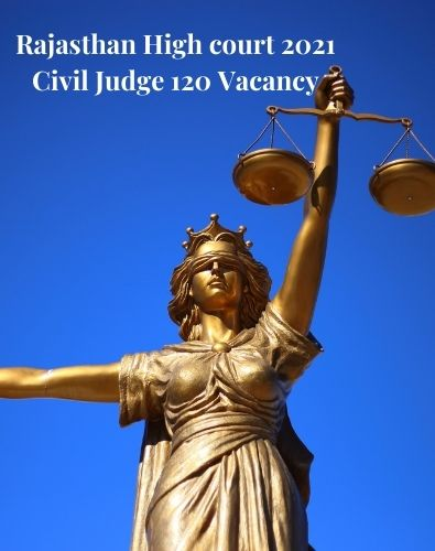 Rajasthan High court 2021 Civil Judge 120 Vacancy 1