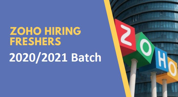 Zoho Recruitment 2021