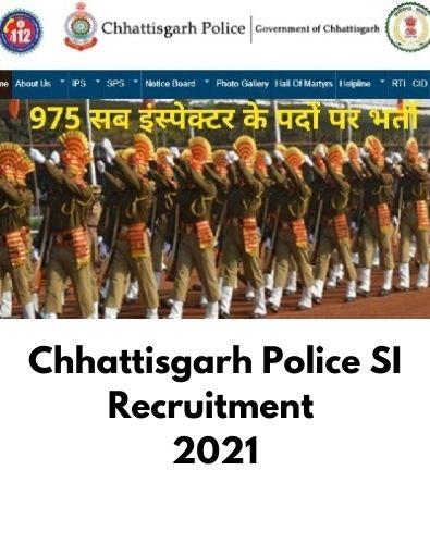 Chhattisgarh Police SI Recruitment